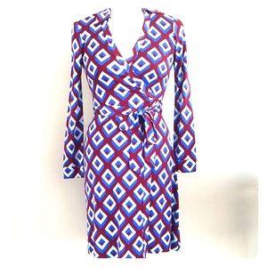 Diane Von Furstenberg NWT Vintage Print Wrap Dress